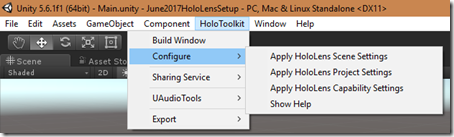Dotnet by Example: Setting up a HoloLens project with the