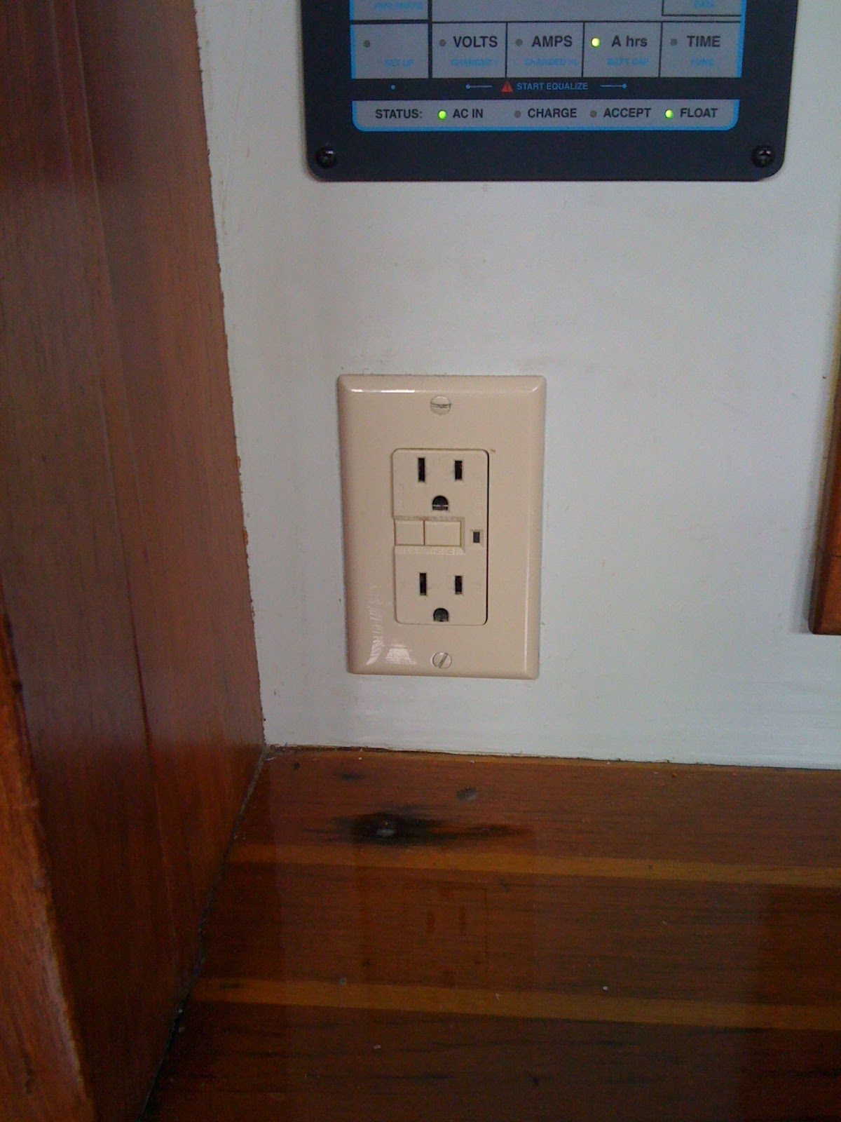 Small Boat Projects Making Life Aboard Easier Gfci Learn How Ground Fault Circuit Interrupters Can Protect Against It Is Not The Normal Shape In Fact A Outlet Those Initials Stand For Interrupter And They Could Save