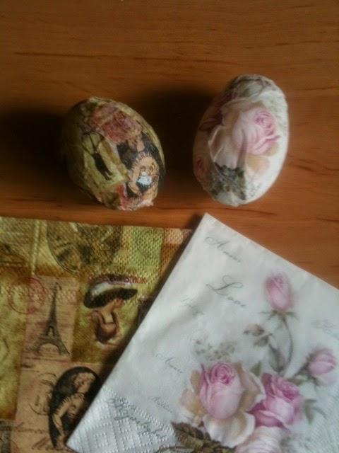 eieren versieren met servetten