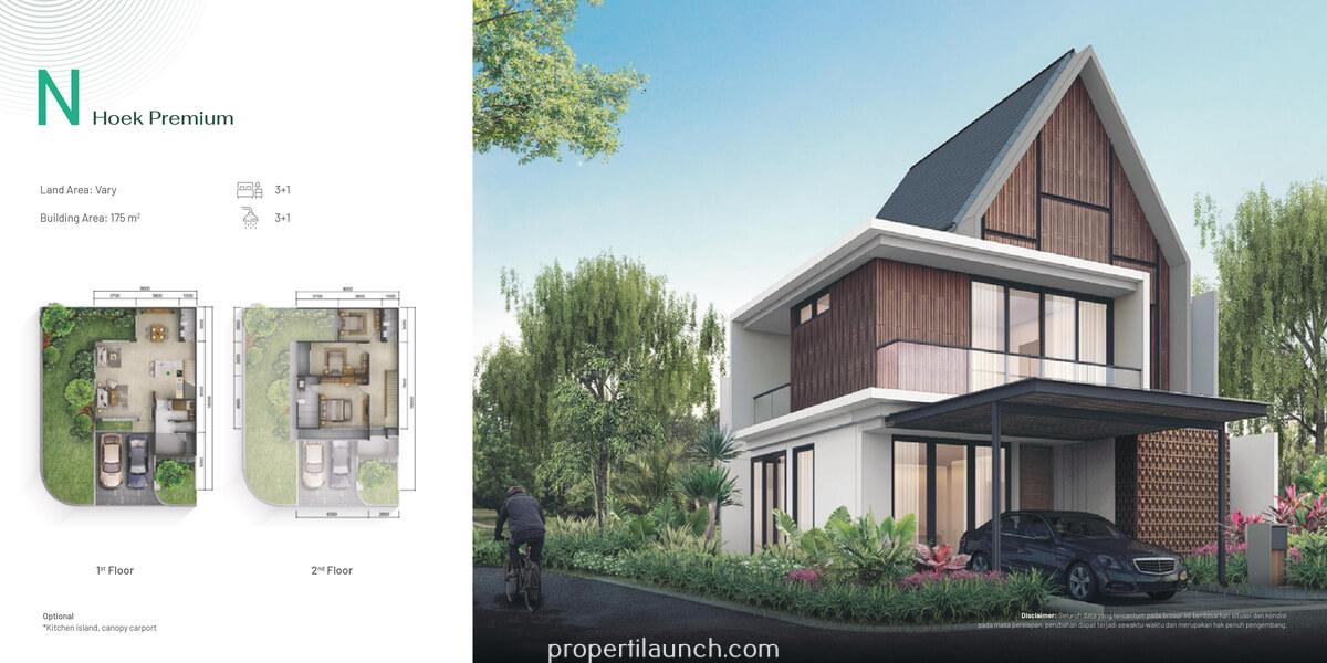 Rumah Pinewood Summarecon Bogor Tipe N Hook Premium