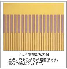 くし形電極部拡大図