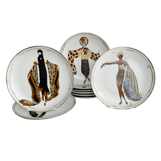 House of  Erte Franklin Mint Limited Edition  Plates