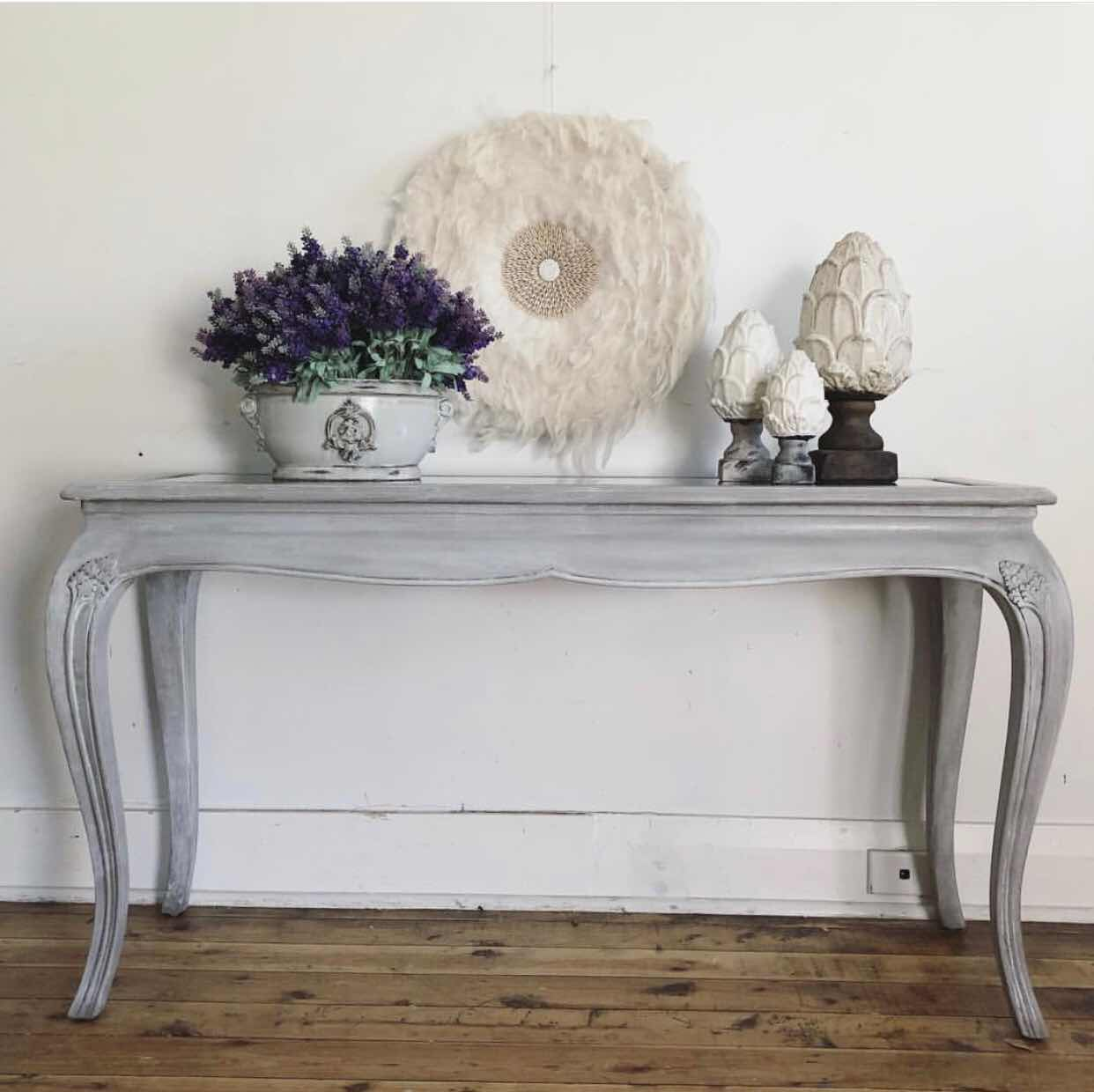 painted restoration hardware look console table lilyfield life