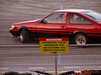 Waring Motorosport Area. Enter at your own risk sign with a Toyota Ae86 in background.