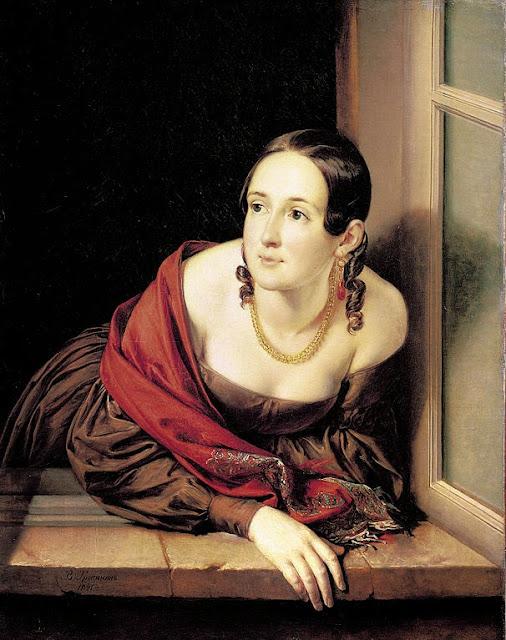 Vasily Tropinin - Woman at the window