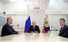 Vladimir Putin launched gas supply to the Crimean Peninsula via the Krasnodar Territory-Crimea main gas pipeline.