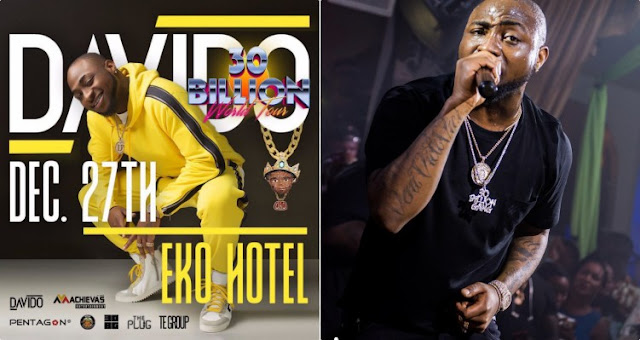 Davido To Round Off 30 Billion Tour In Lagos on December 27th (Photos)
