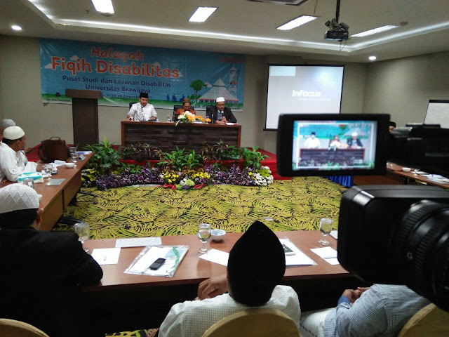 Halaqah Fikih Disabilitas yang diselenggarakan PSLD dan Pusat Studi Pesantren Universitas Brawijaya, di Hotel Savana Malang, pada Selasa-Kamis (19-21/12/2017).