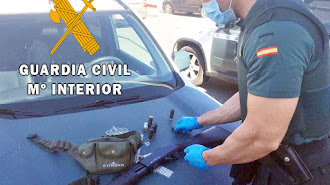 Material intervenido por la Guardia Civil.