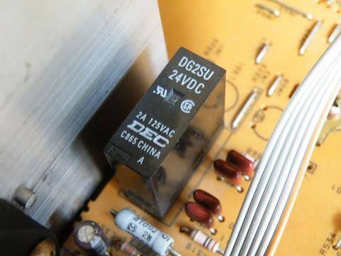 SONY DHC-MD77のアンプのリレー