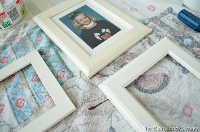 Chalky Painted Frames
