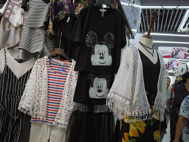 Mickey-Mouse-like shirt for sale at Shiji Tianle in Beijing