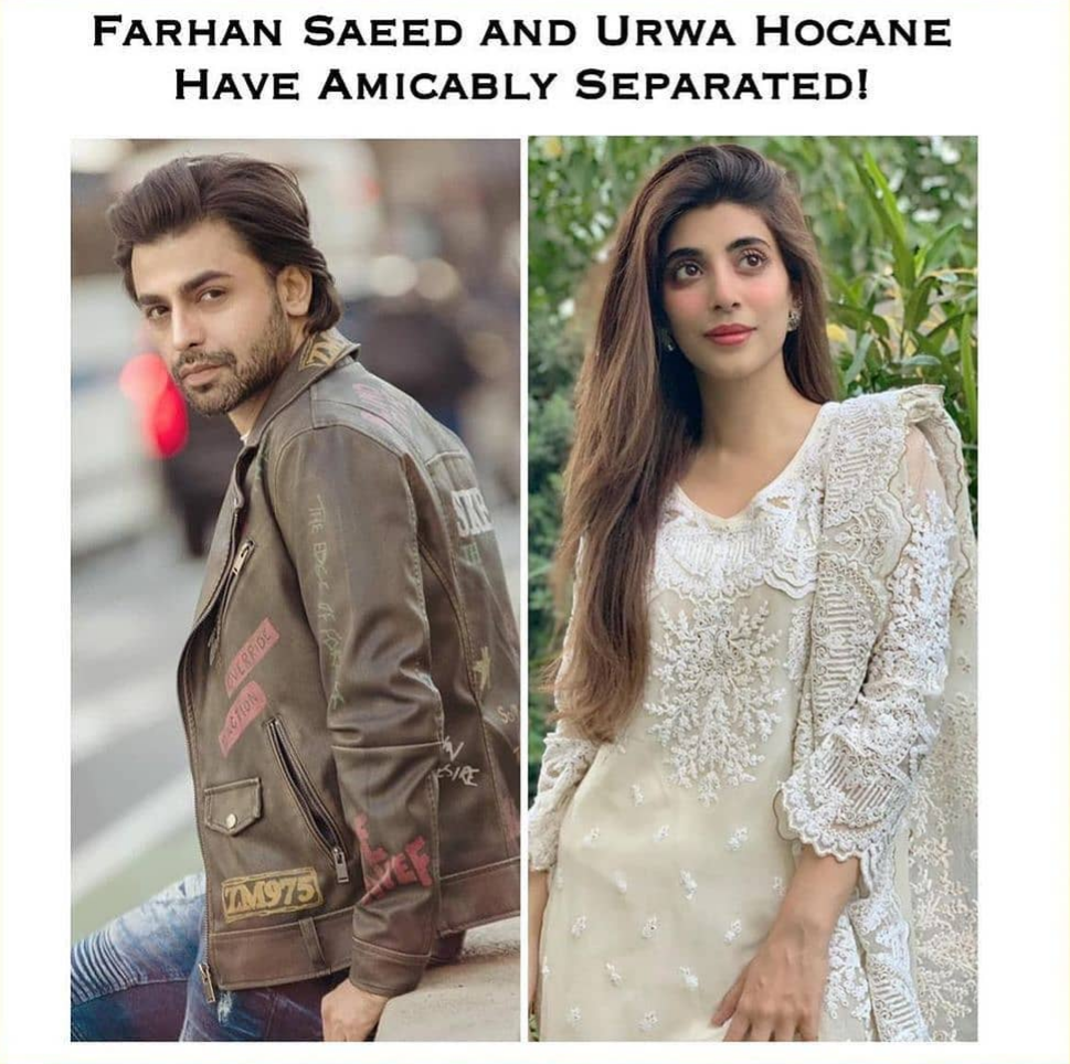 Farhan Saeed and Urwa Hussain divorced
