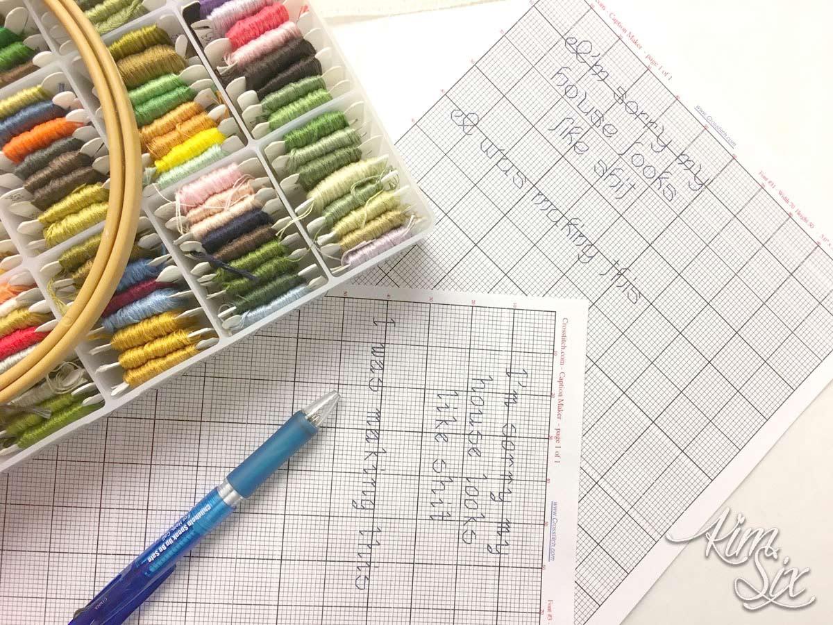Charting cross stitch to update sampler