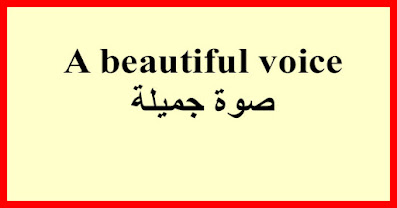A beautiful voice صوة جميلة
