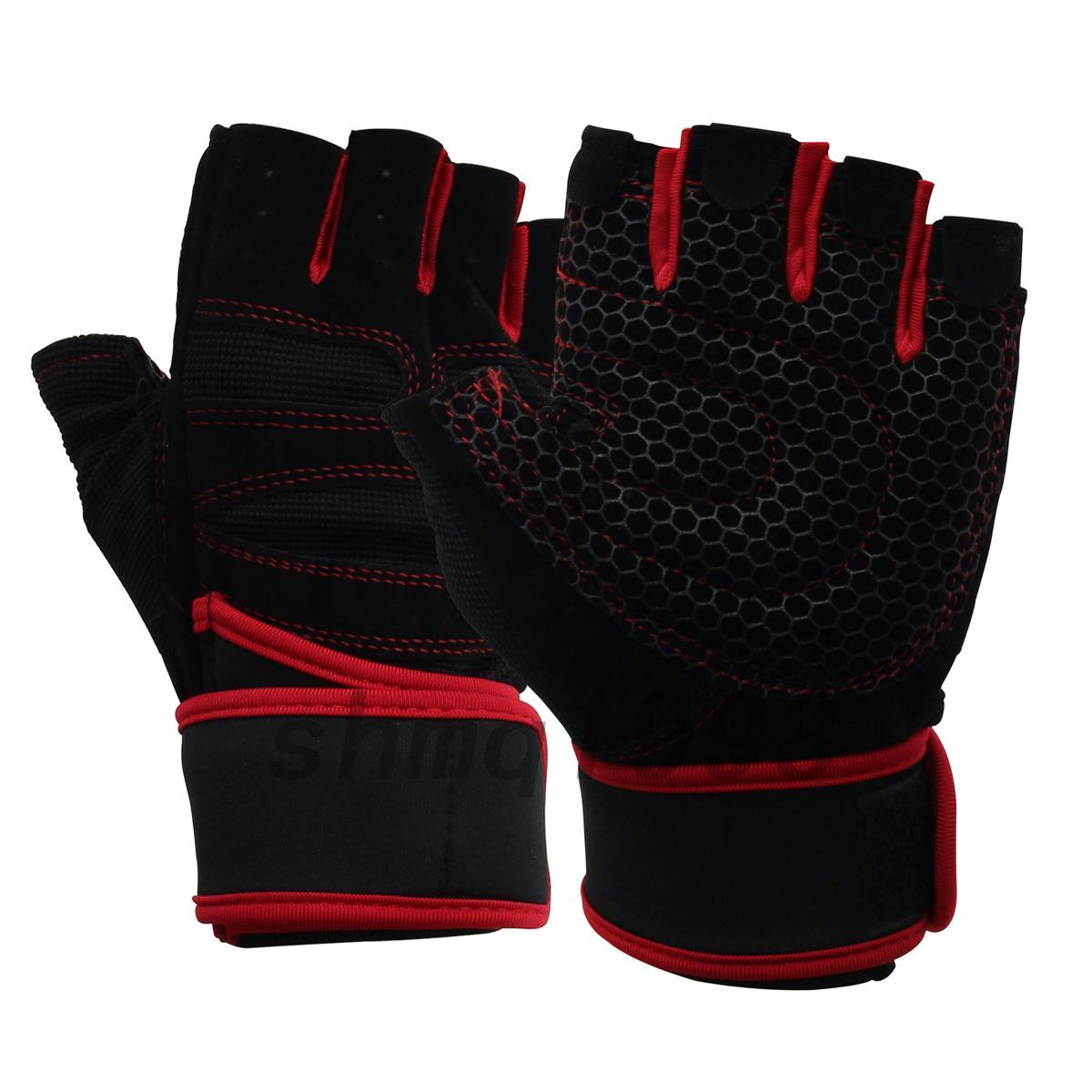 gants demi doigt de v lo pour la musculation halt rophilie cyclisme sport gants ebay. Black Bedroom Furniture Sets. Home Design Ideas