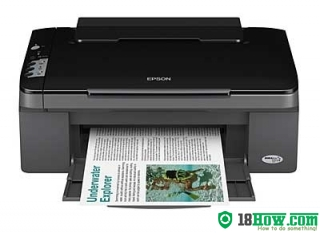 How to reset flashing lights for Epson SX100 printer