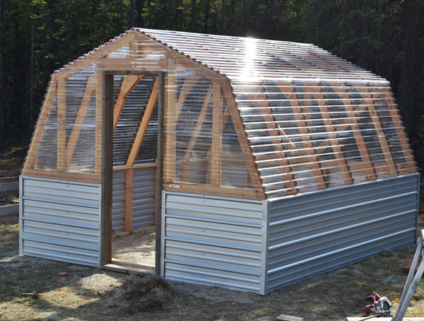 ana white barn greenhouse diy projects