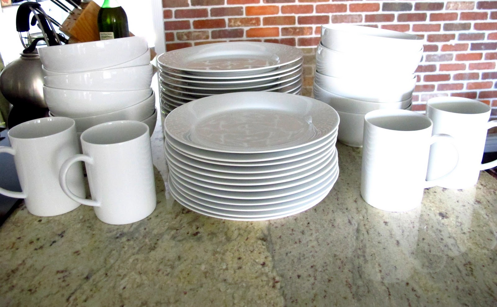 I am totally in love with the set. I got 12 bowls 12 salad plates 12 dinner plates and 4 mugs. I know youu0027re probably thinking Huh?! & Crate And Barrel Dishes - Dream Book Design