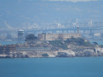 Alcatraz in the hazy distance