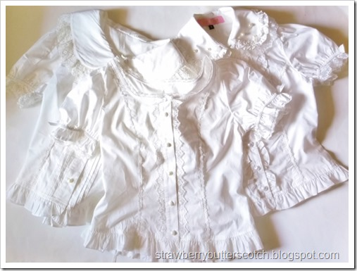 Three different blouses from Bodyline, after a little makeover.
