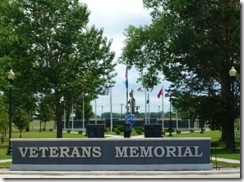 Veterans Memorial from the parking lot
