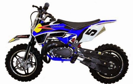 49cc Kids 2 stroke Mini Dirt Bike for sale Blue