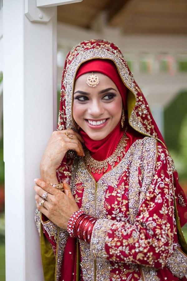 Modern Islamic Hijab For Indian Dulhan Women 2016 Fashionte