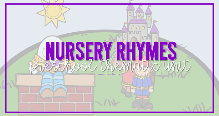 Nursery Rhyme Preschool Tot School Plans