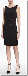 Gina Bacconi beaded front shift dress
