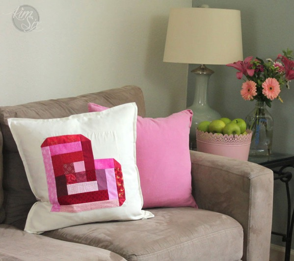 Valnetine Pillow on Sofa