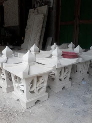 Lampion taman kaligrafi alloh dan muhammad
