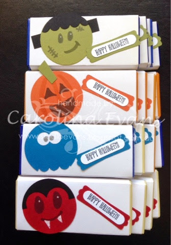 Stampin' Up! Halloween Punch Art Chocolate Wrappers