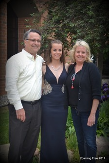 Hannah with Mom and Dad