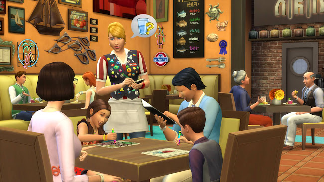 De Sims 4 Uit Eten restaurant familie etentje
