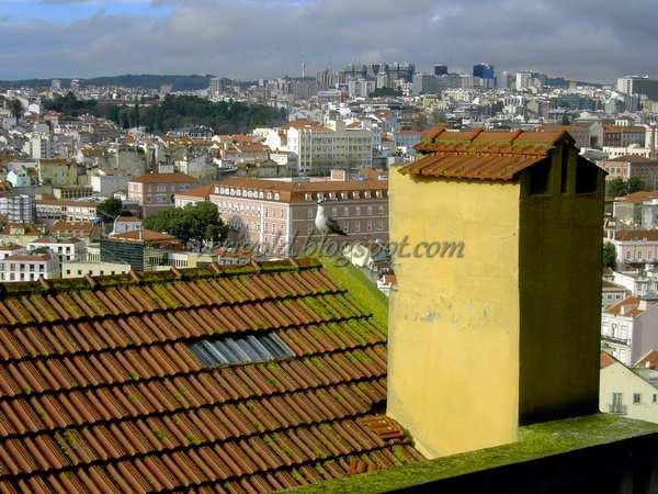 Вид на Лиссабон с мирадору да Граса