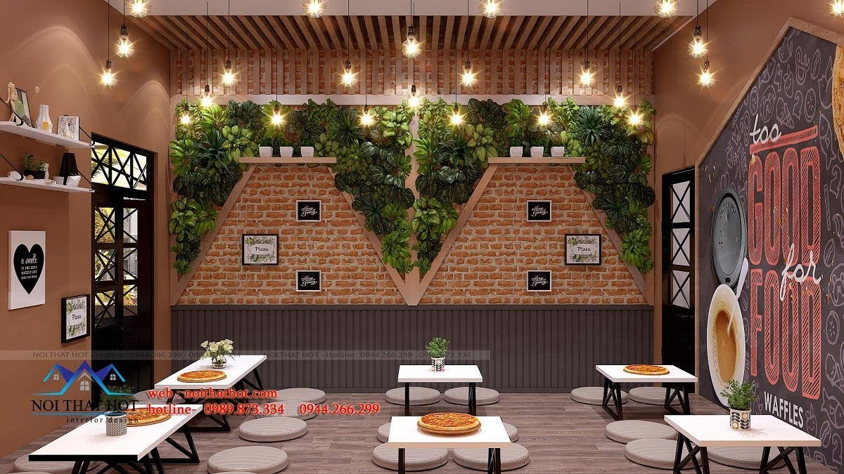 thiết kế cửa hàng pizza bau's 18