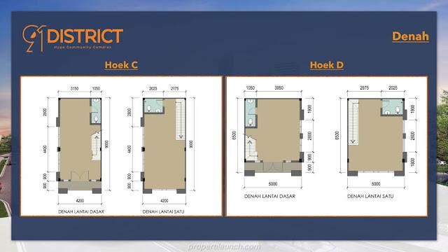 Denah ruko 91 District Hoek C & D