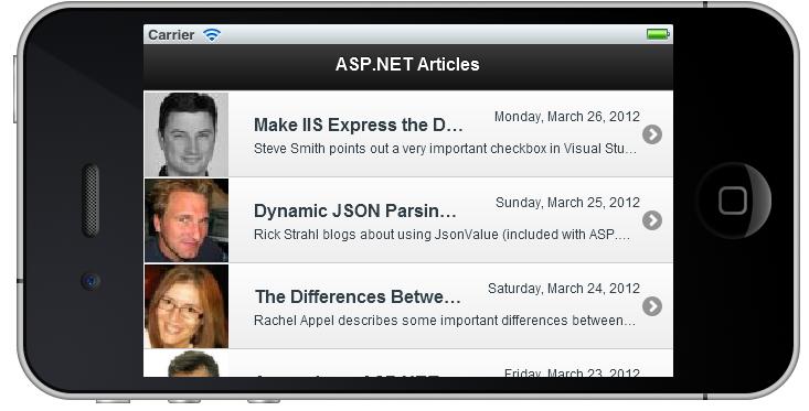 asp.net portal mobile