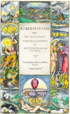 Title Page From Robert Fludd Meteorologica Cosmica 1626, Alchemical And Hermetic Emblems 2