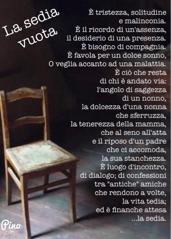 Le Sedie Vuote.Vita E Poesia La Sedia Vuota