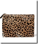 Clare V patchwork leopard print clutch