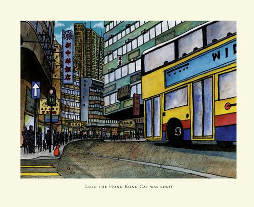picture book, cat story, children's book, the big adventures of, ellen leou, hong kong book, hong kong cat, hong kong children's book, illustrated book, lulu, lulu the hong kong cat,