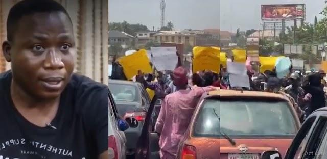 Sunday Igboho's supporters shut down Ibadan, demand release of Yoruba Nation activist (VIDEO)