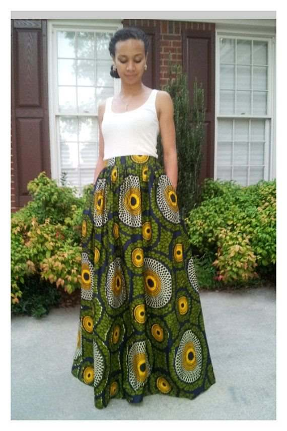 african prints maxi dresses and skirts 2017