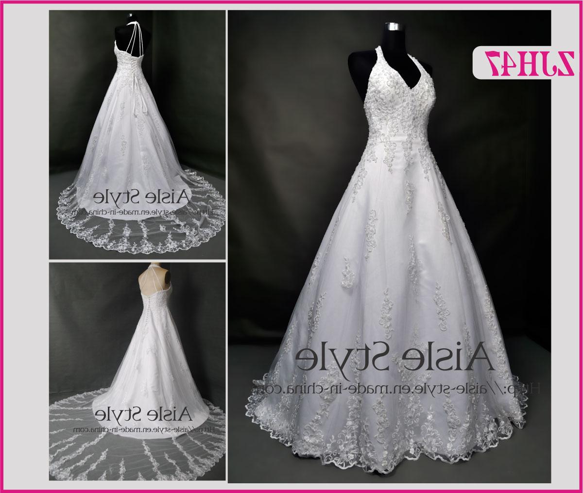 Halter-Neck Wedding Gown