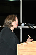 Photo: BCCC President, Dr. Stephanie Shanblatt addresses the audience at Show Some HeART 120
