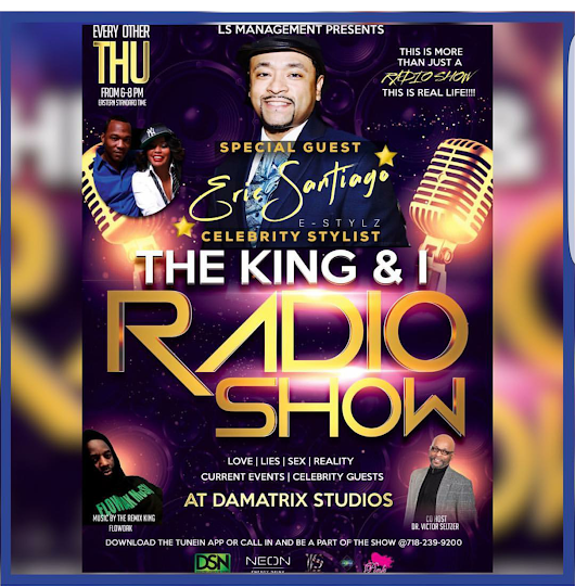 "Come check me out live on the ""The King and I """