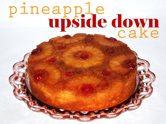 pineapple cherry brown sugar upside down upsidedown cake how to make homemade grandmama grandma recipe depression ware glass plate family