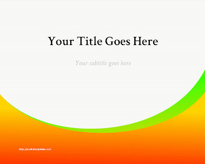 free powerpoint template orange